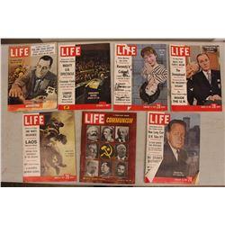 Lot Of 1960's Life Magazines (7)