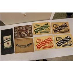 Lot of 'Autobridge' Kits & A Vintage Monopoly Board