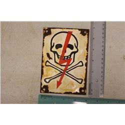 Poison Porcelain Sign