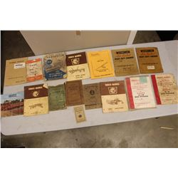 Lot Of Vintage Tractor And Farm Equipment Manuals