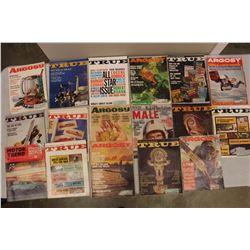 Lot Of Vintage True And Argosy Mens Magazines, 60's