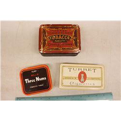 Lot Of Tobacco Tins (Three Nuns, Turret, Hickey And Nicholson)
