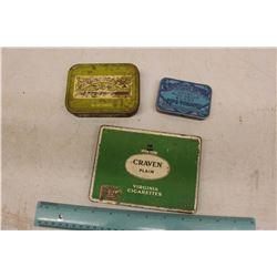 Lot Of Tobacco Tins (Craven, Edgeworth, Golden Virgina