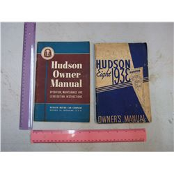 1938 and 1939 Hudsons car owners manuals