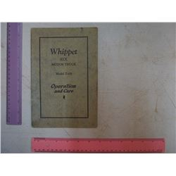 1929 Whippet Six Motor Truck Operations Manuals