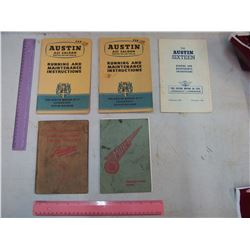 1950's Austin British Car Operators Manuals