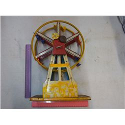 Large Tin Toy Wind-up Ferris Wheel