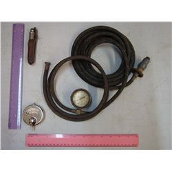 Model A Spark plug Tire Pump, Gauge and Volt Meter