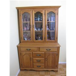 "Wooden Hutch, Solid Oak (48"" W x 72"" T x 18"" D)"