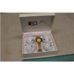 ESQ Watch & Golf Balls