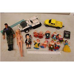Lot of Vintage Toys: G.I Joe Doll, Snow White, John Deere Truck, Etc
