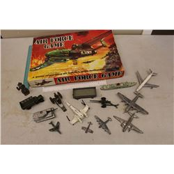 Air Force Game w/Assorted Toys (Dinky Toys, Etc)