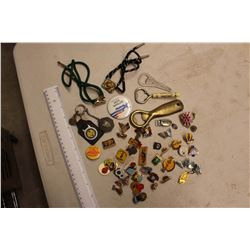 Lot Of Vintage Pins, Bolo Ties And Related
