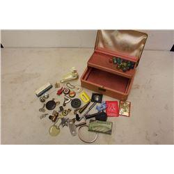 Vintage Jewelry Box W/ Misc.