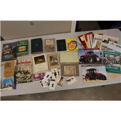 Lot of Vintage Paper Misc: Tractor Brochures, Post Cards, Photographs, Etc
