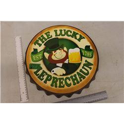 The Lucky Leprechaun Bottlecap Sign