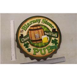 The Blarney Stone Pub Bottlecap Sign
