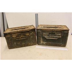 2 Vintage U.S Ammunition Boxes