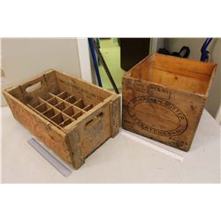 2 Wooden Crates (Canadian Butter, Saskatchewan& Coco-Cola)
