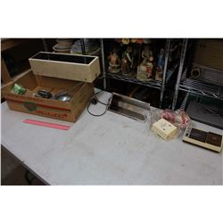 Lot Of Vintage Electronics, Light Fixtures, Intercom System, Etc