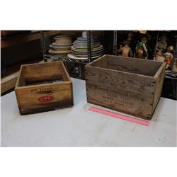 Lot Of 2 Wooden Ammunition Crates