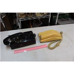 Lot Of 2 Vintage Telephones