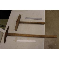 Wooden Handled Pick And Hammer (2 Pieces)