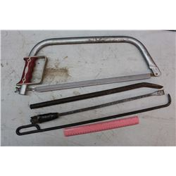 Hand Saw(Comes w/Cover)& 3 Prying Bars