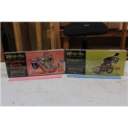 Weird-Ohs Car-Icky-Tures Model Kits (Davey&Ensville Eddie)(NIB)