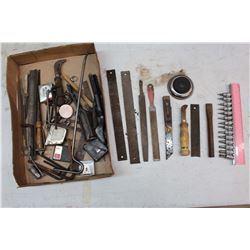 Lot of Various Tools (Tape Measures, Filers, Sockets, Etc)