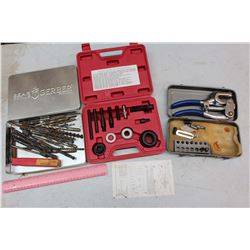 Pulley Puller & Installer Set, Drill Bits & A Riveter