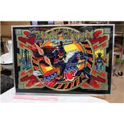 Framed Black Knight 2000 Real Pinball Machine Backglass (CPR Repo)