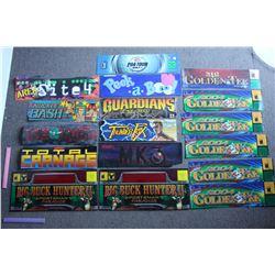 Lot of Styrene Arcade Game Headers (14)