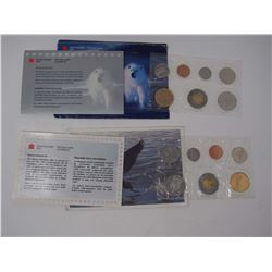 Lot OF1998 & 1999 Uncirculated Sets of Canadian Coins