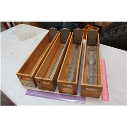 Vintage Wooden Card Holders (4)