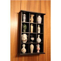 "Franklin Mint Mini Porcelain Vase Collection W/ Display & Books 15.5"" x 9.5"""