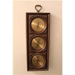 """Vintage Plastic Barometer 18.5"""" x 7"""" USA"""