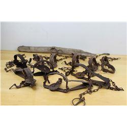 Lot Of Antique Traps (10)