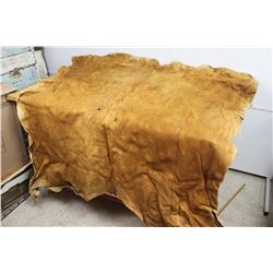 """Traditional Vintage Tanned Moose Hide Approx 60"""" x 50"""" Circa. 1960 (still supple)"""