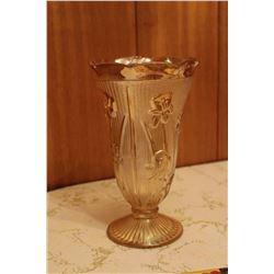"9"" Carnival Glass Jeannette Glass Marigold Iris & Herringbone"