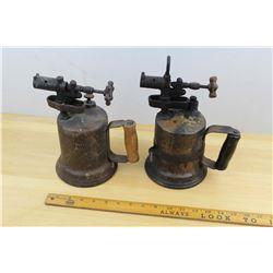 Lot Of (2) Antique Blow Torches