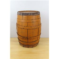 "17.5"" Antique Wooded Beer Or Vinegar Barrel"