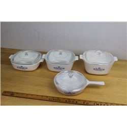 Vintage Corningware Lot (4)