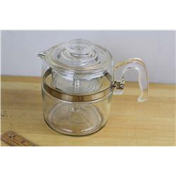 Complete Vintage Pyrex Coffee Percolator, Complete