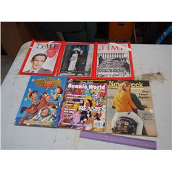 1960 Time Magazines, Toy Story book, Newsweek Etc