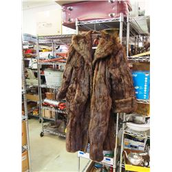 Woman's Muskrat Coat, Saskatoon Tag