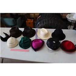 Lot of Vintage Women Hats (10)