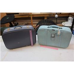 Blue Vintage Suitcases (2)