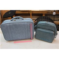 Blue Vintage Suitcase & Bag