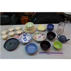 Lot of Colourful Dishware